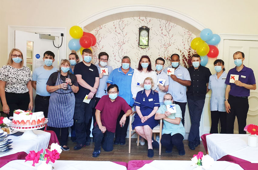 Sharston House nursing home staff honoured for work during pandemic