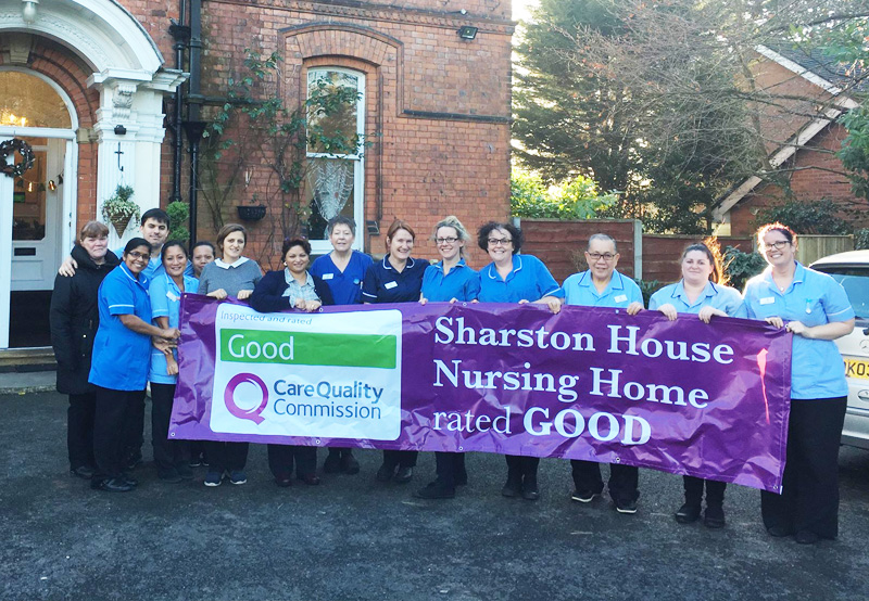 Care Quality Commission(CQC) Good rating for Sharston House nursing home!