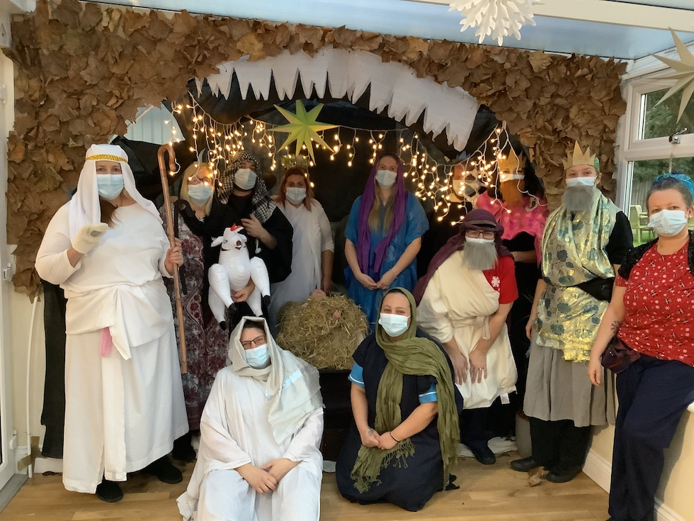 Spring Lodge care home makes its own Christmas entertainment