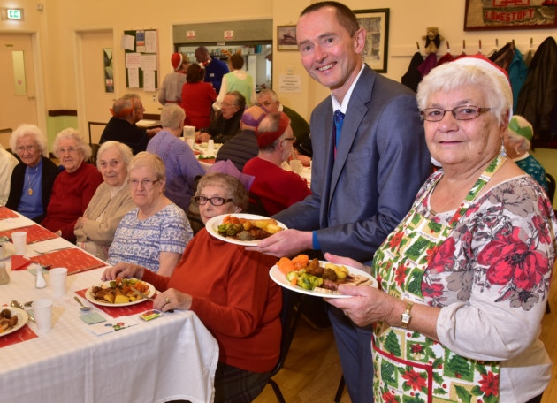 Diners given a festive treat at Lowestoft club's Christmas meal