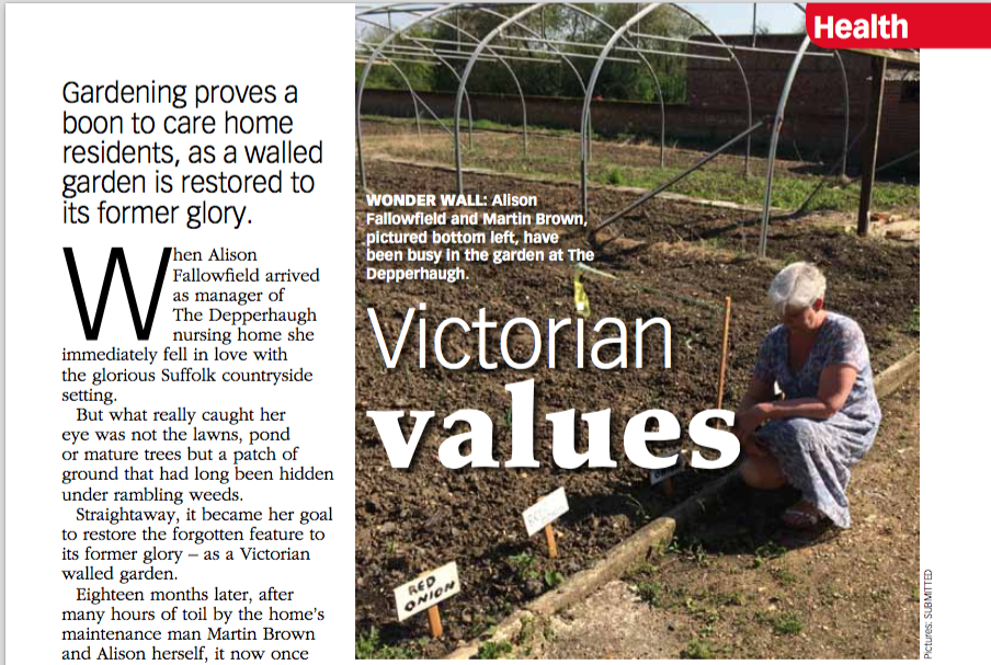 Gardening proves a boon to care home residents, as a walled garden is restored to its former glory