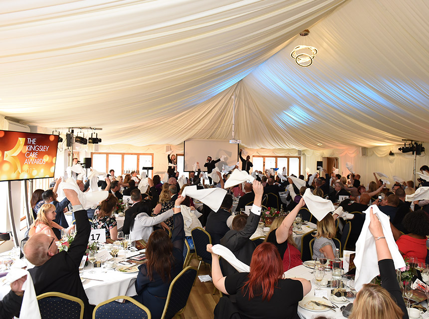 The outstanding work of care home staff was celebrated at a glitzy awards ceremony on Thursday at the Ivy House Country Hotel