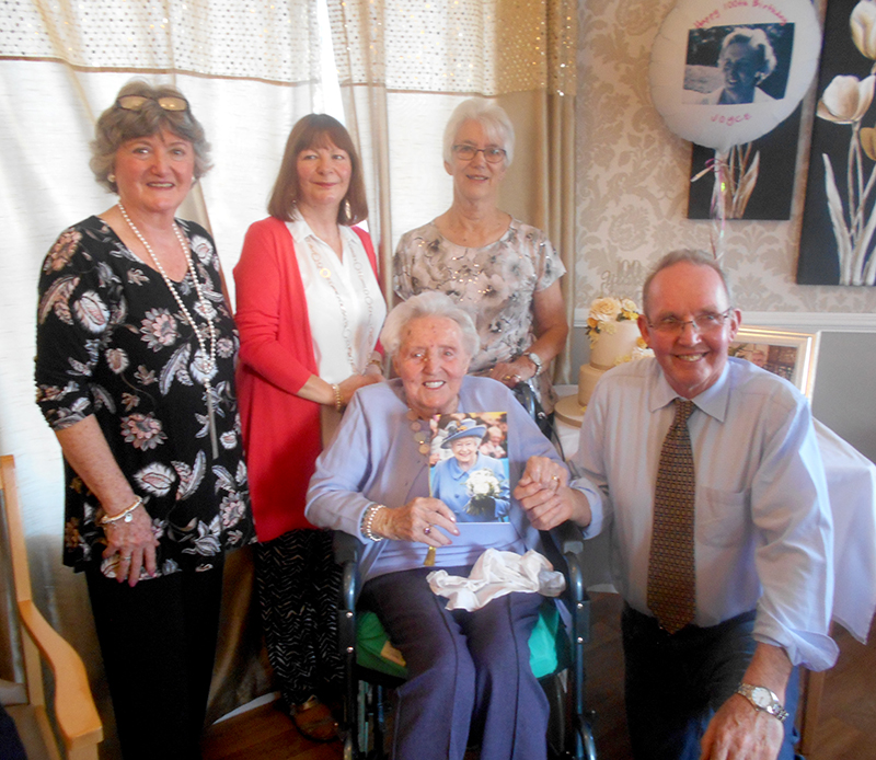 Friend flies in from New Zealand for 100th birthday
