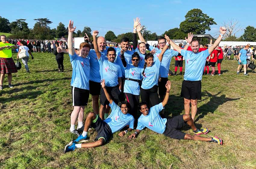 Kingsley staff valiantly tackle the Tough Mudder