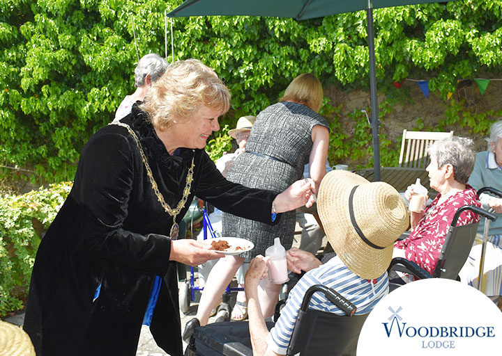 The new Mayor of Woodbridge Clare Perkins opened our new monthly Care Cafe at Woodbridge Lodge