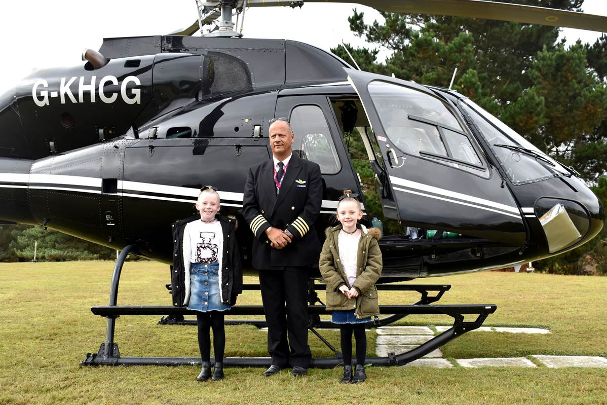 A brave little girl who has battled illness all her life had her spirits lifted sky high when she took off on a helicopter trip