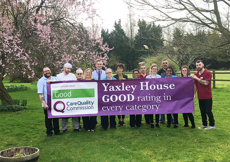 Good CQC rating for Yaxley House care home