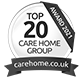 awards from top20 care awars carehome.co.uk 2021