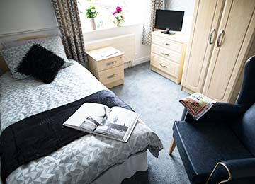 luxury accommodation at Park Lane Residential Care Home