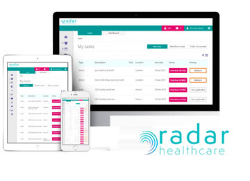 radar healthcare compliance system at Kingsley care homes
