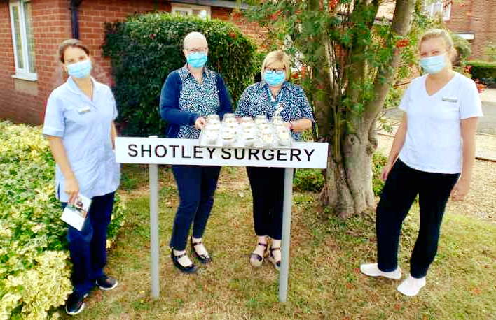 Staff from Spring Lodge Care Home surprised and delighted local Shotley residents by distributing cupcakes