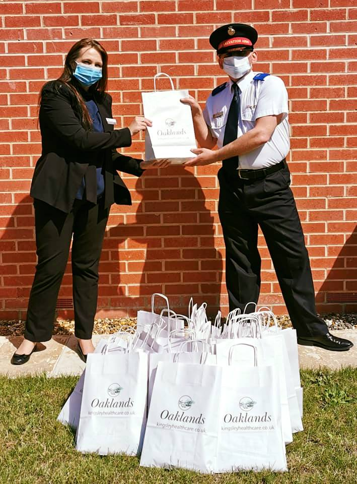 Oaklands Care Home in Diss distributed some community support with more bag drops