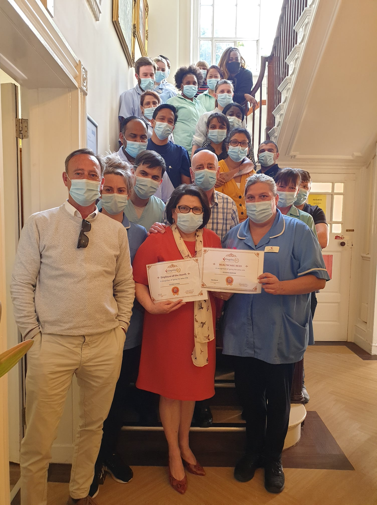 Nurse honoured by colleagues after battling back from Covid