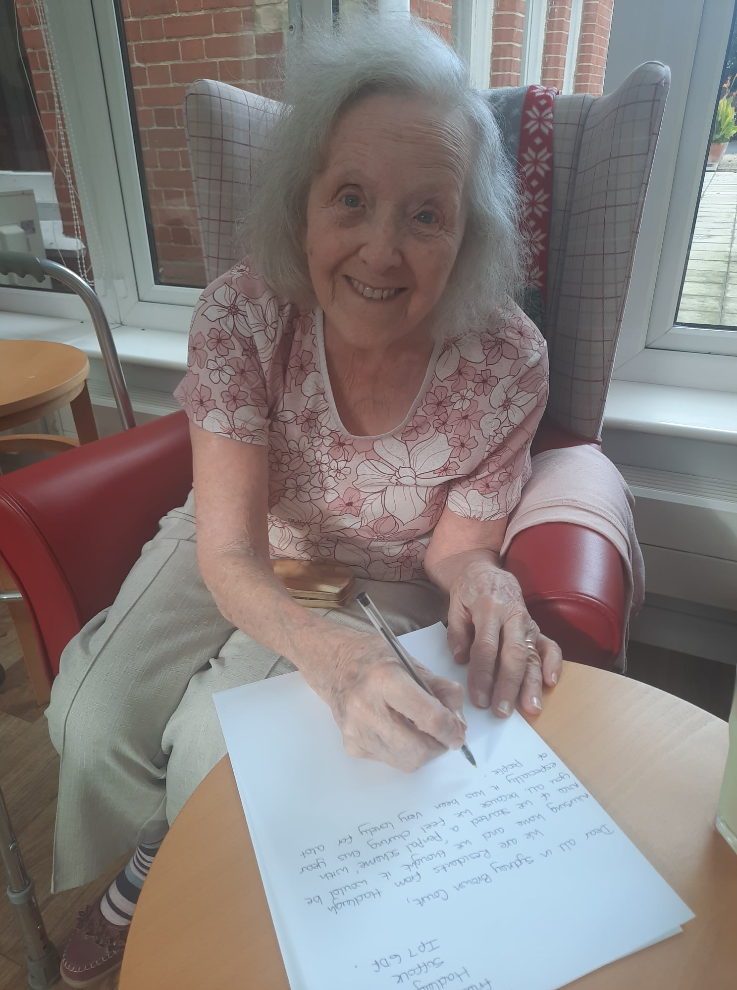 Residents find write way to stay in touch at Hadleigh Nursing Home