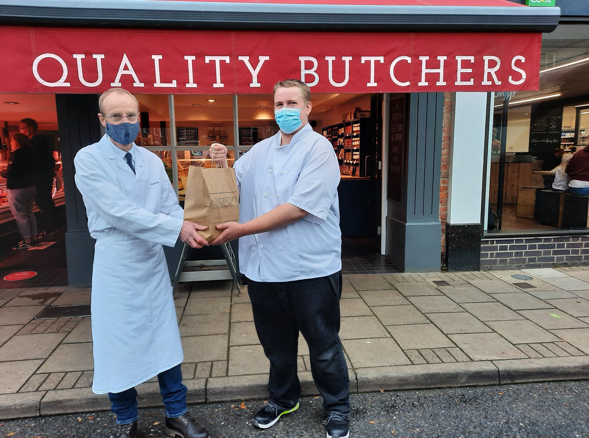 Andrews Butchers in #Hadleigh very kindly donated produce to Hadleigh Nursing Home