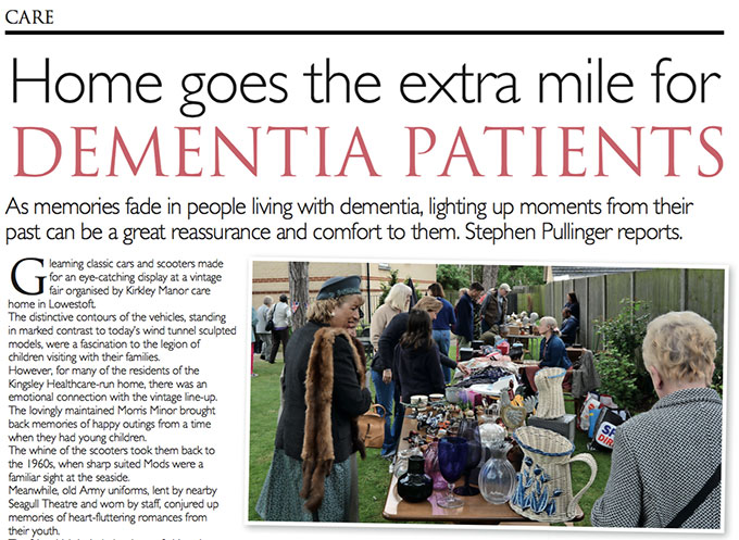 Home goes the extra mile for Dementia patients