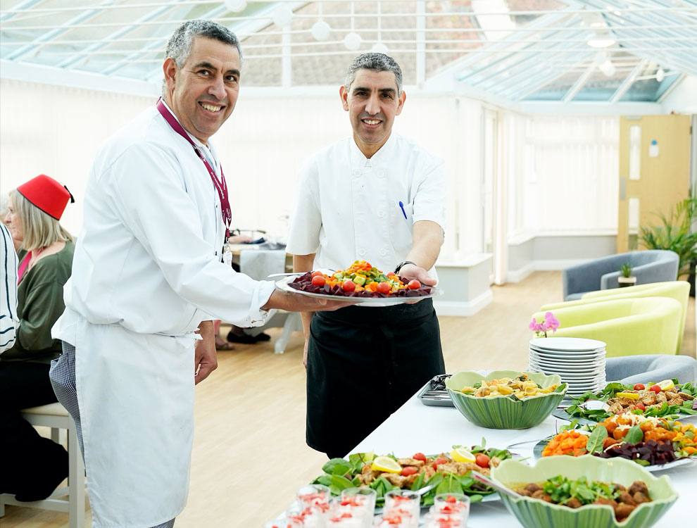 Chef brothers spice up the life of care home residents