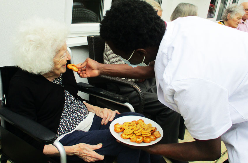 Residents and staff at Allonsfield House celebrated Kingsley Dignity Day