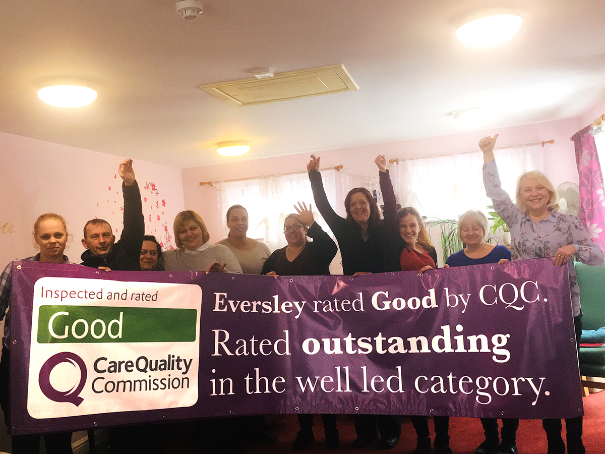 Glowing Care Quality Commission report for Eversley Nursing Home