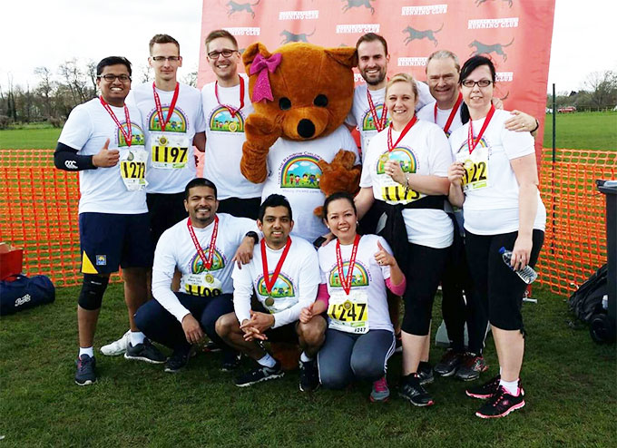 Kingsley Healthcare's running team raised about £750 in sponsorship through their efforts in the Bungay Black Dog 10K