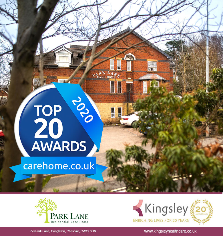 Kingsley Care Homes so proud to be Carehome.co.uk Top 20 Large Care Home Group for fourth successive year