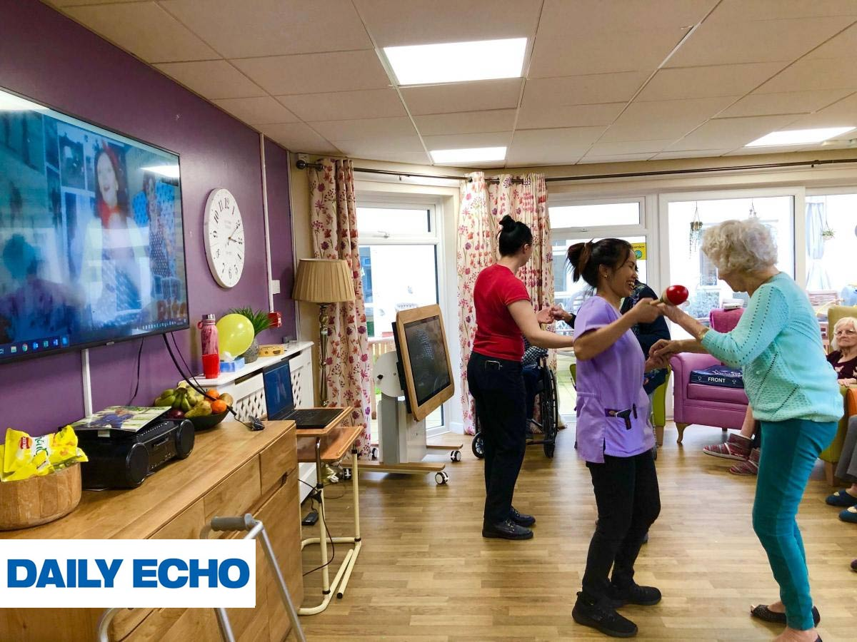 Highcliffe Nursing Home's Live Streaming story in our local Daily Echo newspaper