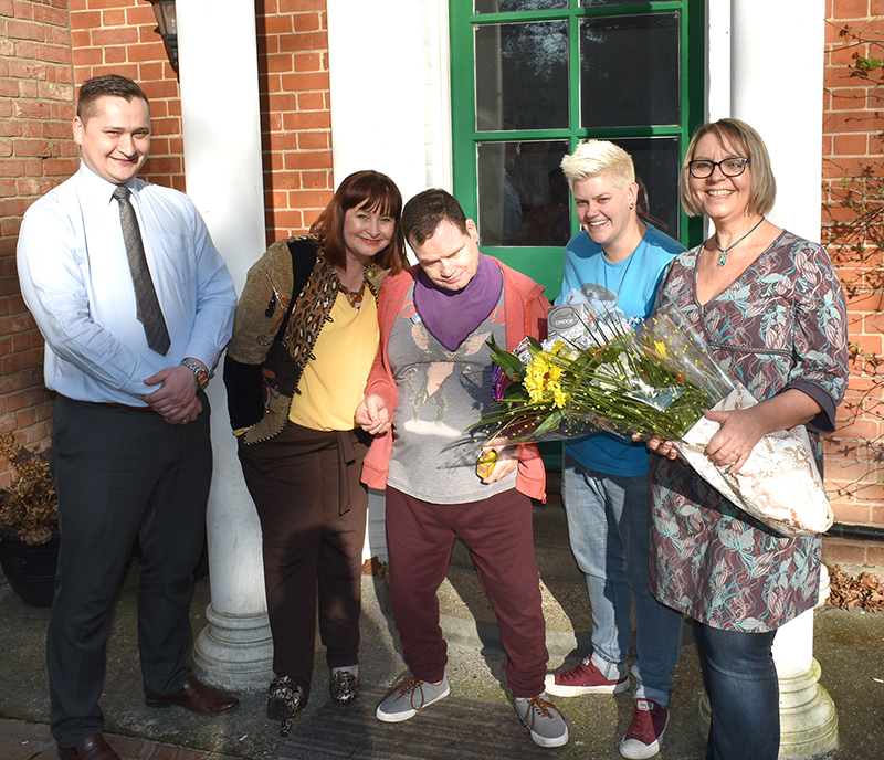 Support worker Nicola Martin honoured for 10 years service