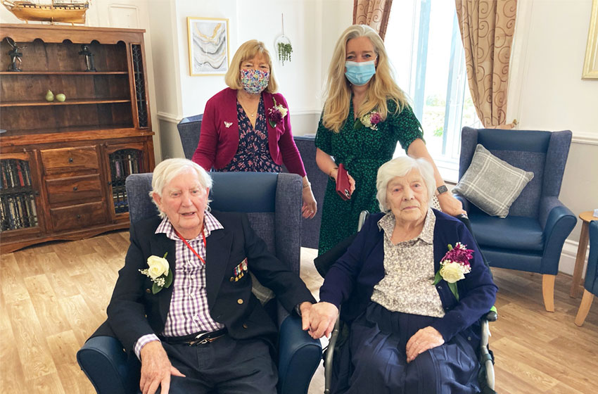 Couple celebrate 74th anniversary in The Depperhaugh nursing home close to the farm where they met
