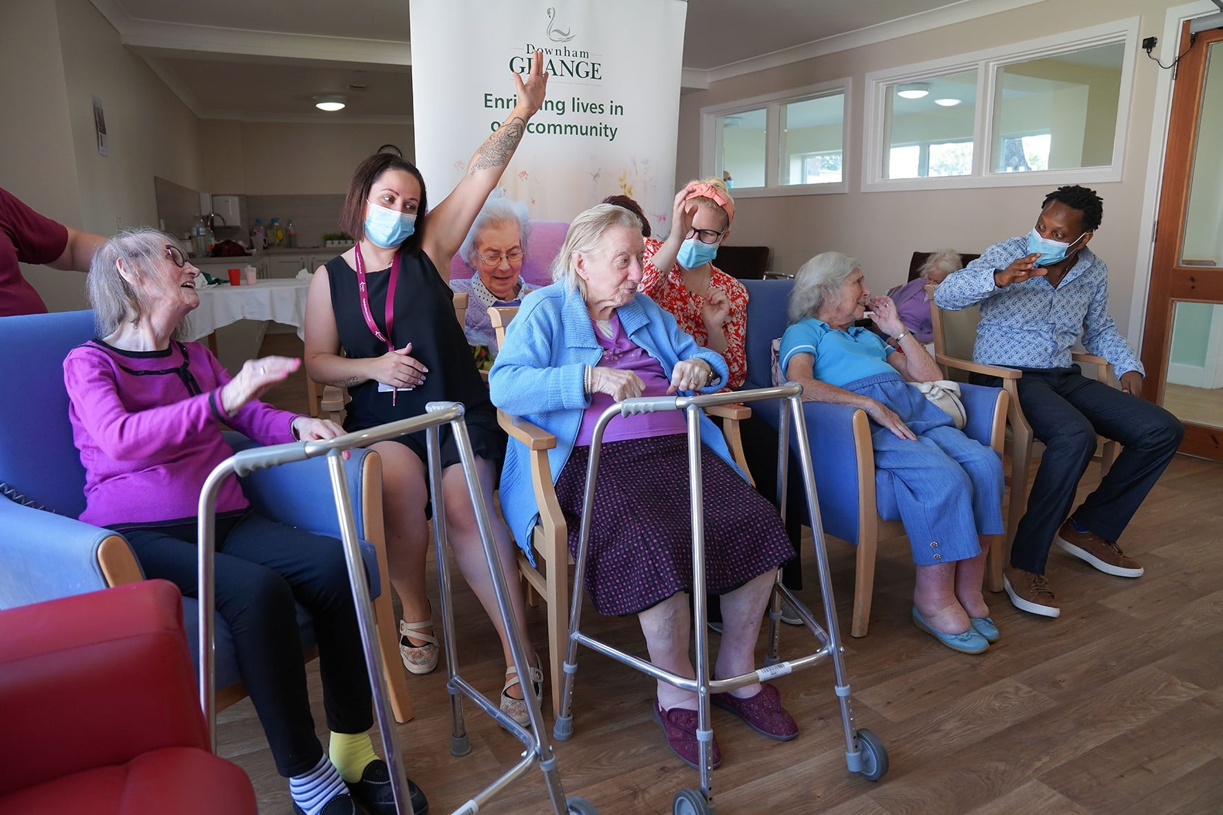 Downham Grange hosts exercise class using Zoom