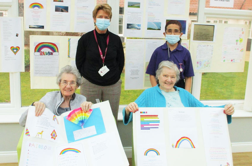 Young poets brighten day for residents at Allonsfield House care home
