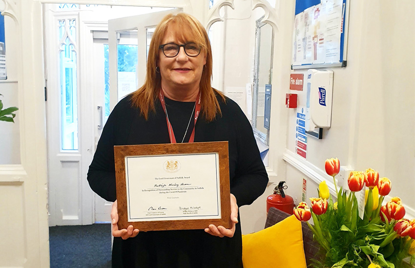 Hadleigh Nursing Home staff receive accolade from Lord Lieutenant