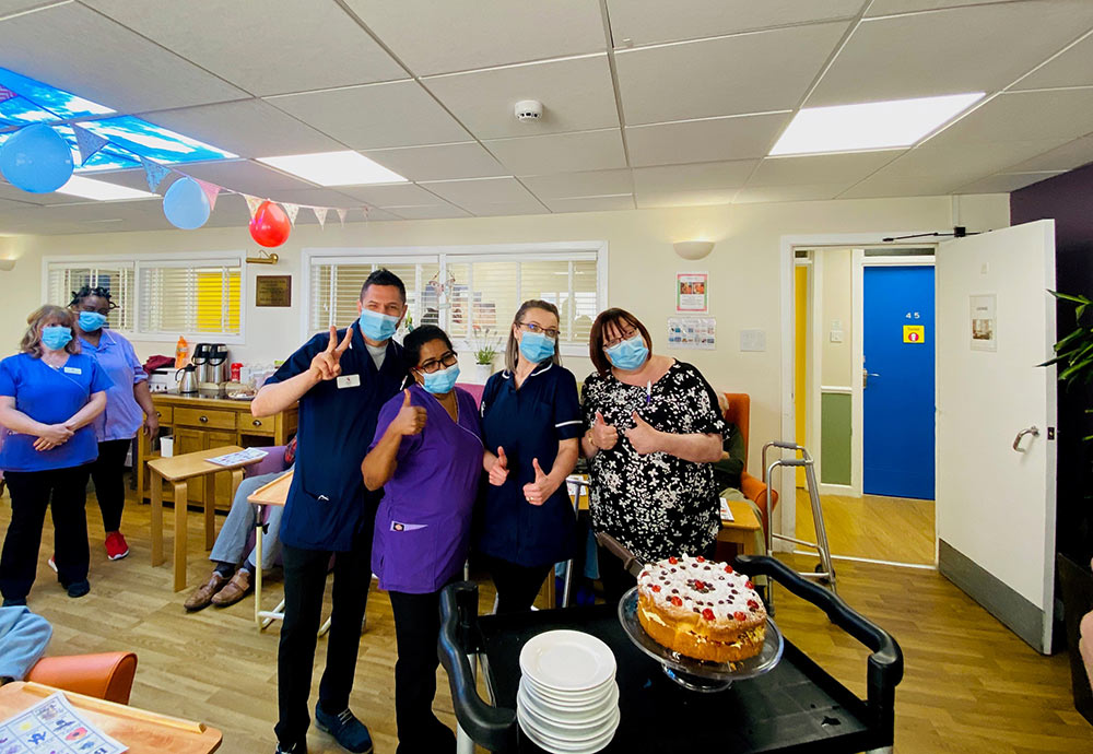 The nurses at Highcliffe Nursing Home enjoyed a double celebration on Tuesday