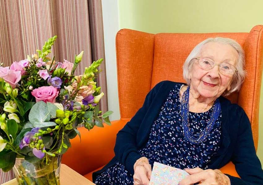 Kathleen celebrates her 101st birthday