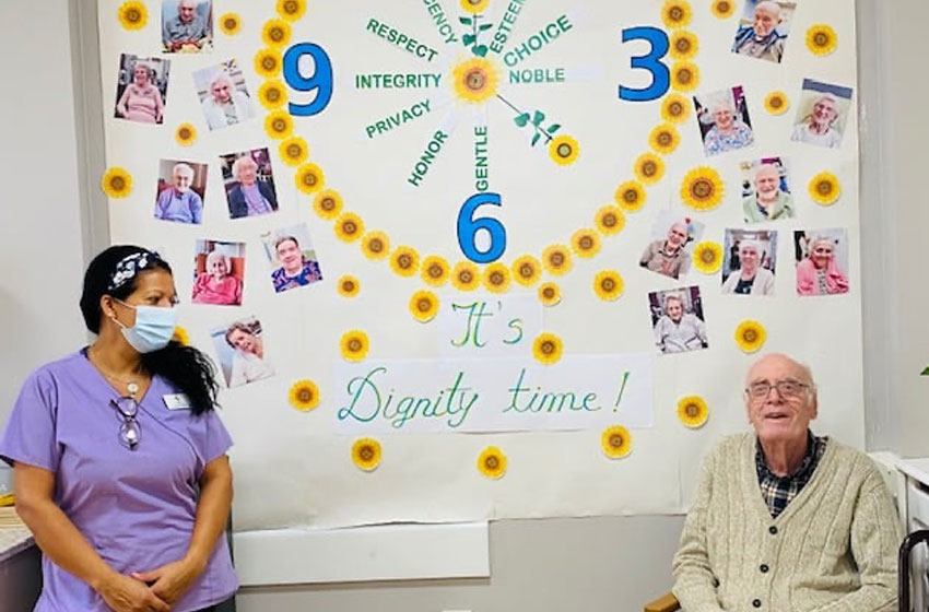 At Highcliffe Nursing Home, our residents enjoyed a Dignity Ball in celebration of Dignity Action Day