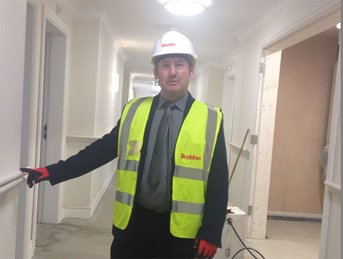 The first key appointment has been announced for a £6m dementia care and nursing home nearing completion in Partington