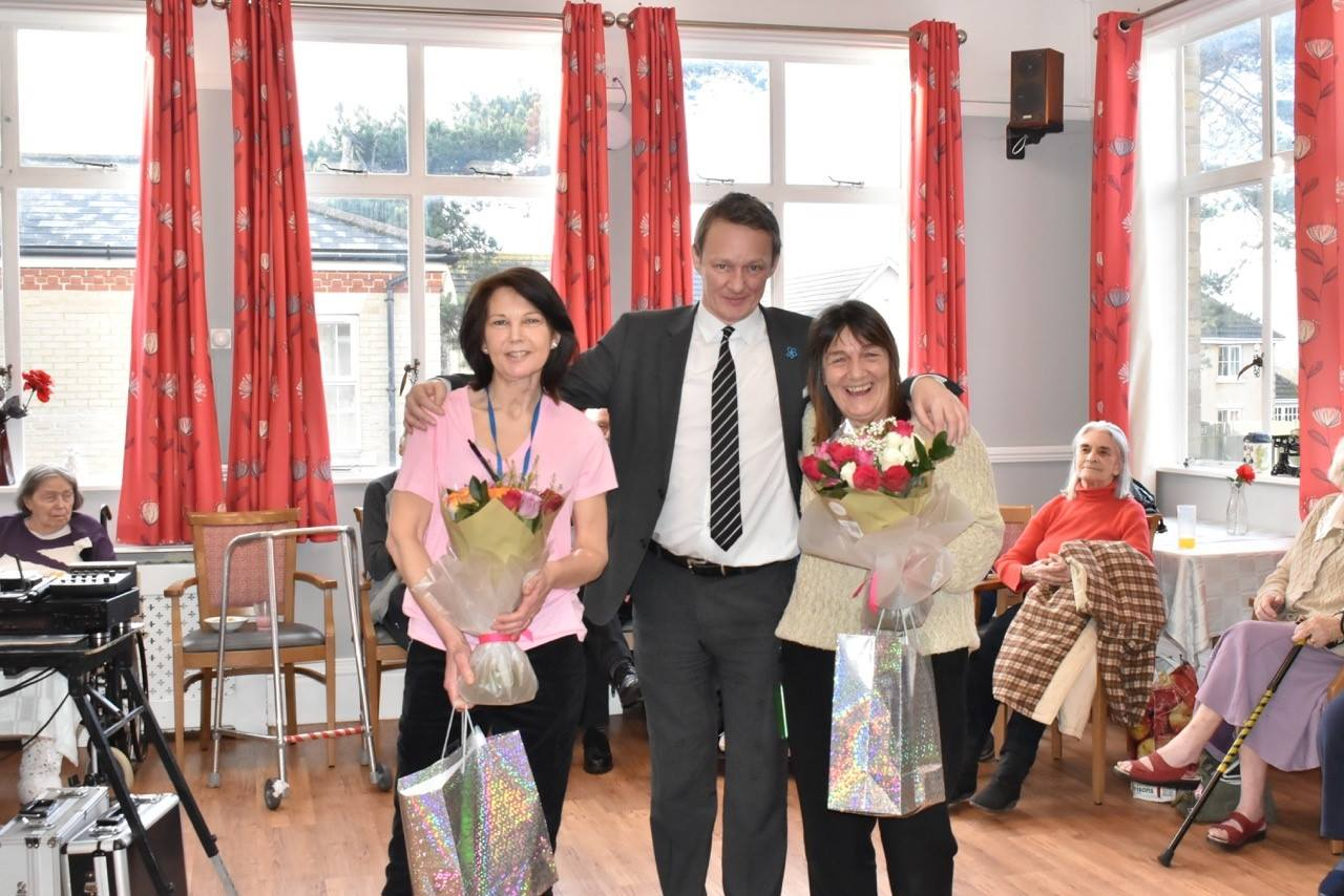 20 years of service honoured at Kirkley Manor for two staff