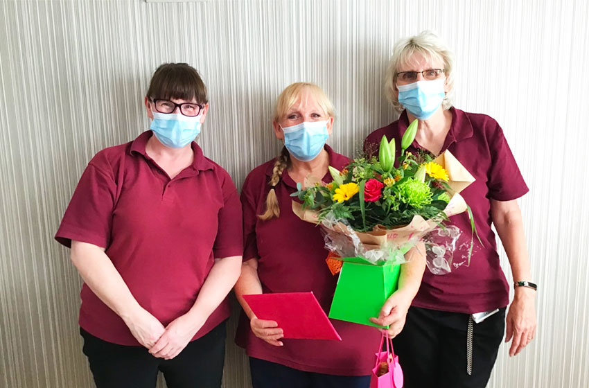 Park Lane care home gave a fitting send-off to domestic support worker