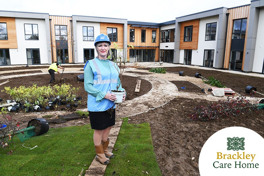 Sheena supporting some finishing touches ahead of Brackley Care home open days