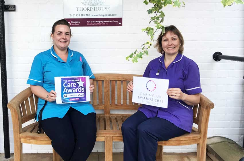 Thorp House nursing home in national finals for three care awards