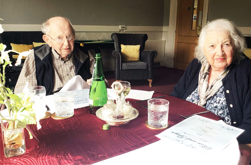 Couple celebrate 68th wedding anniversary at Queen Charlotte Care Home in Weymouth