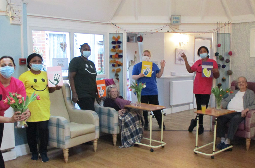 The Willows held a digni-tea party together to honour Dignity Action Day