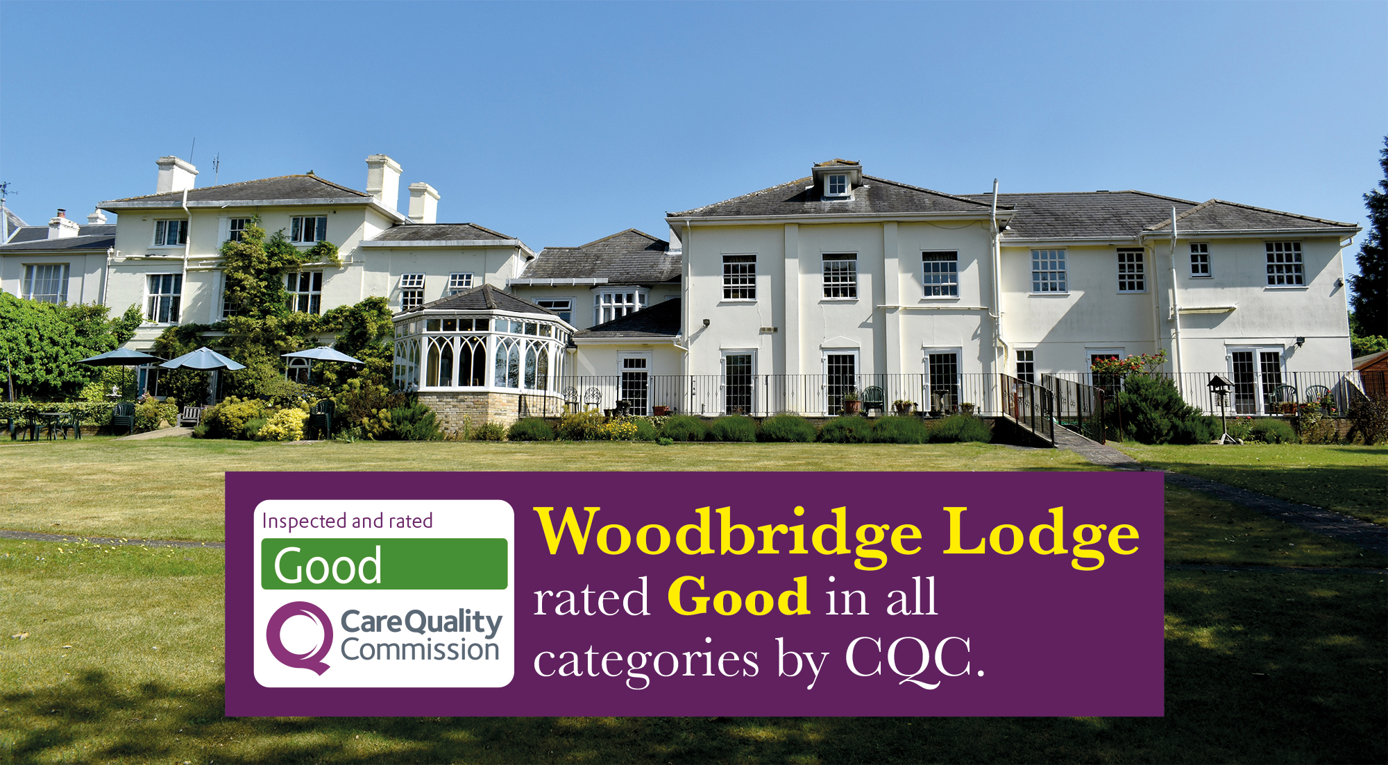 Woodbridge Lodge staff proud of Good CQC report