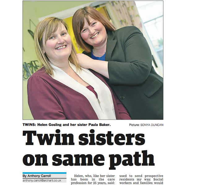 Twin sisters on same path